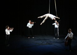 Image of A Nuits de Fourvière production/ Département du Rhône, coproduced with Les Théâtres de la ville de Luxembourg, GREC Festival of Barcelona, Le Cirque-Théâtre d'Elbeuf, Dusseldorf Festival, Barbican Theatre, CACCV Espace Jean Legendre-Compiegne.   This project has been assisted by the Australian Government's Major Festivals Initiative, managed by the Australia Council its arts funding and advisory body, in association with the Confederation of Australian International Arts Festivals, Brisbane Festival, Perth International Arts Festival and Melbourne Festival.