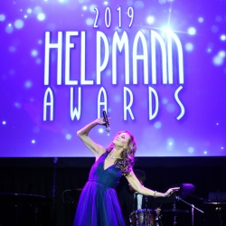 Rhonda Burchmore performs during the 19th Annual Helpmann Awards Act I at Melbourne Arts Centre on July 14, 2019.