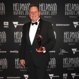 Euan Murdoch poses with the Helpmann Award for Best Chamber And/Or Instrumental Ensemble Concert - Gabrieli Consort & Players - Purcell's King Arthur by Melbourne Recital Centre and State Opera of South Australia.
