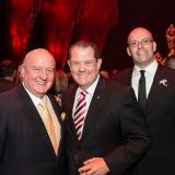 Alan Jones, John Frost OAM and partner Shane O'Connor