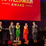 Performing on the night - Tom Burlinson, Lisa McCune, Todd McKenney and