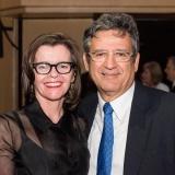 Live Performance Australia Chief Executive Evelyn Richardson and QPAC Chief Executive John Kotzas